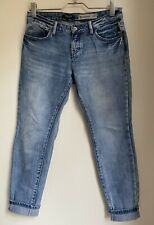 BLUE BOYFRIEND JEANS 12 NEW LOOK PETITE SUMMER HOLIDAY SMART CASUAL TOWIE CELEB