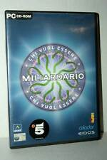 CHI VUOL ESSERE MILIARDARIO USATO OTTIMO PC CDROM VERSIONE ITALIANA GD1 45166