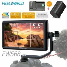 FEELWORLD FW568 4K HDMI On Camera Field DSLR Monitor Full HD 1920x1080 +Battery