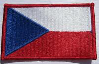 Tschechien Czech Flagge Aufnäher Patch 5 x 8 cm NEU (A54v)