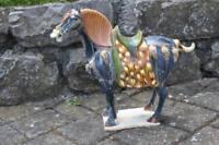 Tang Pferd - alte Keramik bzw. Fayence - groß und schwer - 45 cm. - fast 5 Kg.