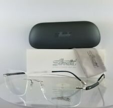 Brand New Authentic Silhouette 5437/00 6051 Eyeglasses Silver Rimless Frame 5437