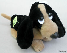 Applause Hush Puppies Basset Hound Dog Plush 6in Shoe Mascot Ad Promo Hang Tags