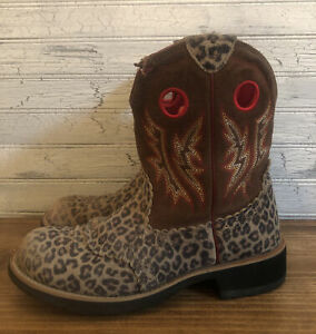 Ariat Fatbaby Leopard Print Cowgirl Boots Women's Size 9 B 10010917