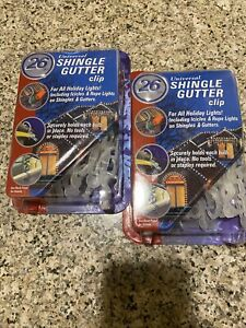 2 Shingle Gutter Clips For All Holiday Lights Universal No Tools Needed 26 Pc