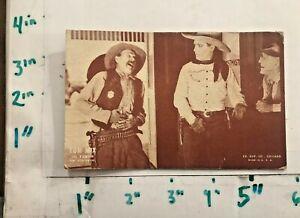 Tom Mix Exhibit Card In Teeth Wm Fox Prod Ex Sup Co Chicago Illinois Cowboy