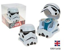 Star Wars STORM TROOPER ANALOGUE WATCH In 3D HEAD CASE Kids Child Christmas Gift