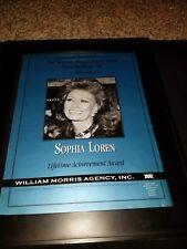 Sophia Loren William Morris Lifetime Achievement Award Promo Poster Ad Framed!