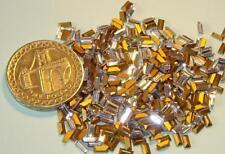 12 x Swarovski 4mm x 2mm Crystal diamanté gold-foiled #4500 baguettes