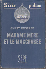 C1 Gypsy Rose Lee MADAME MERE ET MACCHABEE 1950 Mother Finds a Body STRIP TEASE