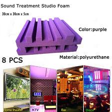 8 PCS Sound Treatment Studio Room Absorption Tiles Polyurethane foam 30cm x 30cm