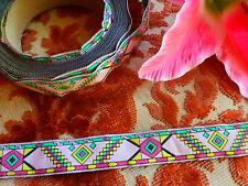 7m50x2cm ancien galon couleurs ,tissage ,idéal vétements anciens