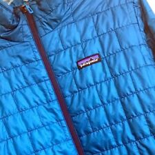 Patagonia Men's Nano Puff Jacket Small Big Sur Blue Primaloft $199 EUC