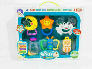 Baby Rattle and Teether Easy Grip, Baby Toy Baby Activity Toys 0M+Gift Set 6PCS