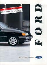 Ford folleto de AJA 1989 Scorpio xr2i xr3i cabrio sierra brochure folleto auto