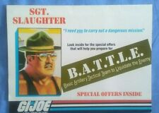 GI Joe 1987 SGT. SLAUGHTER BATTLE Mail in Offer Application/Catalog Poster MINT!