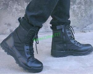 Mens Special Forces Military Ankle Boots Army SWAT Tactical Combat Work Shoes