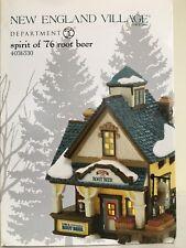 """Dept 56 New England Village """"Spirit of '76 Root Beer"""""""