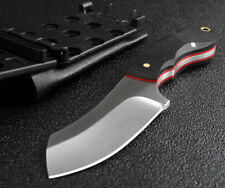 Pocket Size Fixed Blade Camping Hunting Survival Knife, 9CR18MOV Blade, 59HRC