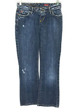 Miss Sixty Extra Low TY Distressed Jeans Made Italy Size 25 Size 2 Actual 26x30
