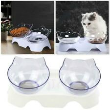 Cat Bowls 15 Degree Tilted Cat Food Bowl Double Cat Dishes,Cat Feeder Cat