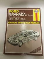 Ford Granada / Scorpio Haynes Owners Workshop Manual Mar 1985 to 1993 Petrol