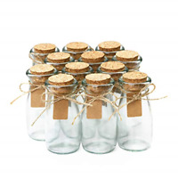 Glass Favor Jars With Cork Lids Mason Jar Wedding Favors W/Personalized Label US