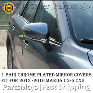 For 2013-2015 2016 Mazda CX-5 CX5 Chrome Mirror Bottom Stripe Bezel Covers Trims