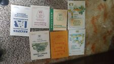 Vintage PA Agriculture recipe books