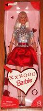 1999 Valentine's Day Barbie Doll XXXOOO Dress Brush Special Edition Holiday