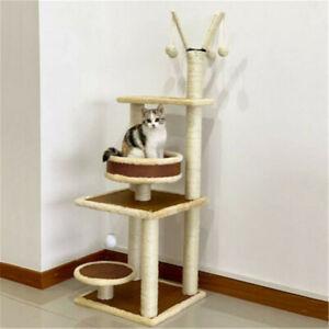 120cm Cat Tree Tower Kitten Scratcher Scratching Post Pet House Play Toys