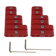 2 Sets 7mm 8mm Red Spark Plug Wire Separators Dividers Looms Chevy Ford 9723r