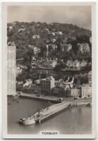 Torquay Devon English Riviera Seaside Resort  1930s Trade Ad Card