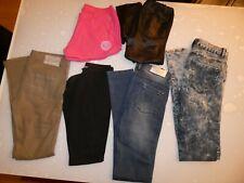 LOT 6 vêtement 5 Pantalons / Jeans + 1 Short TAILLE 16 ans FILLE M JUNIOR 164 cm