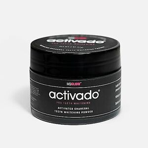 MSGLOW TEETH WHITENING POWDER 60G ACTIVATED CHARCOAL STAIN REMOVER TOOTHPASTE