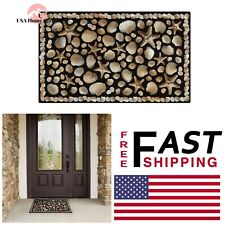 Seaside Recycled Rubber Door Mat 18 in. x 30 in. Home Entryway Recycled Rubber