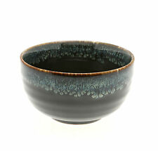 "1x Japanese 5"" Black Amber Blue Medium Bowl #140-144"