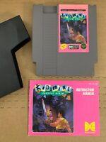 Kid Niki: Radical Ninja (1987) NES Nintendo Game Cart w Manual 100% Authentic