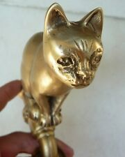 Gorgeous Vintage Siamese Cat Brass Garden / Outdoor Faucet New