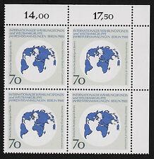1988 germany Berlin Sc#9N572 Mi#817 Corner Numeral Margin Block MNH