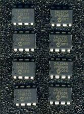 LOT DE 8 MEMOIRES EEPROM I2C SERIE MICROCHIP 24LC256 & 24LC512