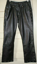 NWOT Wms Size 8 LEATHER MOTORCYCLE PANTS Studded~~Wilson Leather