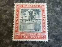 BARBADOS POSTAGE STAMP SG147 ONE PENNY LIGHTLY MOUNTED MINT