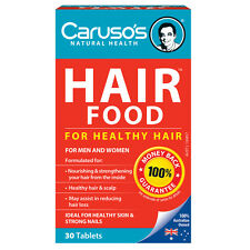 CARUSO'S HAIR FOOD 30 TABLETS FOR HEALTHY HAIR & SCALP NOURISHING CARUSOS LOSS