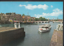 Netherlands Postcard - Amsterdam, The Amstel With Skinny Bridge  RR1556