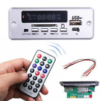 Car Stereo MP3 Decoder Board SD Audio Module 5V USB TF AUX FM Radio Remote