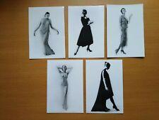 More details for lot of 5 postcards - evening dress - photo cecil beaton - dior callot balenciaga