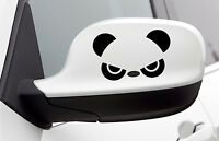 Cute Funny Panda Black Vinyl Decal Sticker Car Mirror Window Laptop Fridge +