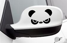 Adorable Divertido Panda Negro Vinilo Autoadhesivo Con Ventana De Espejo De Coche Portátil Nevera