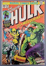 The Incredible Hulk #181 1st Wolverine! Nov 1974 Marvel NO MVS MAJOR KEY!